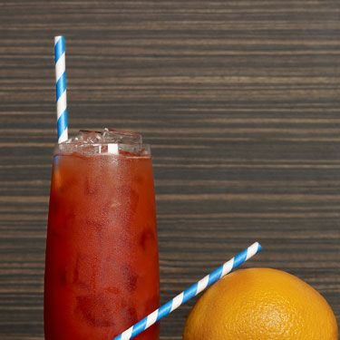 <p>2 oz. silver tequila (Make sure it's silver since gold tequila tastes different) <br />1 ½ oz. blood orange puree<br />½ oz. pear liqueur<br />2 cashes blood orange bitters (at liquor stores&#x3B; if you can't find blood orange bitters, regular bitters will do) <br />Edible candy straw (or a Twizzler) </p><p>In a mixing glass, combine all ingredients and shake. Strain into a highball and garnish with candy straw. </p><p>SOURCE: The Empire Hotel</p>