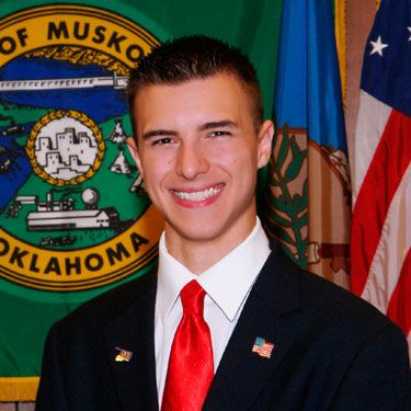 He must have a hell of a lot of boyish charm, because this Republican was elected as the mayor of Muskogee, 