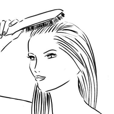 Use a paddle brush