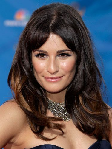"""The sexy <i>Glee</i> brunette turned heads with her perfectly coiffed straight bangs and wavy strands. <a  href="""" http://www.cosmopolitan.com/hairstyles-beauty/hair-care/sexy-long-hair"""" target=""""_blank""""> Find out how to steal her look.</a>"""
