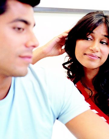 """It will make gatherings with friends and family easier if your guy is blissfully unaware that everyone in the room might be wishing the old boyfriend was still in the picture. (""""He was so good at Pictionary!"""") Let the new guy know that while the ex was loved by all, that was only because they saw one side of him, not the person you were  around. Even if the new guy isn't Mr. Popular with Dad and e-mail buddies with your best friend, you're the only one who really has to like him. He will get better at Pictionary too. He has been practicing his animal shapes."""