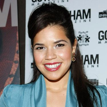 A half-up style always looks sexy, especially when it has lots of height. To snag America Ferrera's 'do, tease your roots with a fine-tooth comb (use hairspray for hold) before gently smoothing the top half of your hair back.