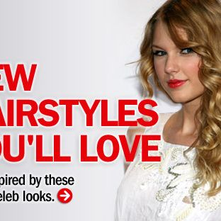 "How gorgeous are Taylor Swift's ringlets? Copy this look by using hot rollers or a 1-inch curling iron. When you release each curl, cup it in your palm while it cools to set the shape. Part your <a href=""http://www.cosmopolitan.com/style/hairstyles/star-style-gallery "" target=""_blank"">hair</a> to one side and let your curls fall over your shoulder."