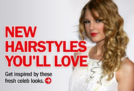 """How gorgeous are Taylor Swift's ringlets? Copy this look by using hot rollers or a 1-inch curling iron. When you release each curl, cup it in your palm while it cools to set the shape. Part your <a href=""""http://www.cosmopolitan.com/style/hairstyles/star-style-gallery """" target=""""_blank"""">hair</a> to one side and let your curls fall over your shoulder."""