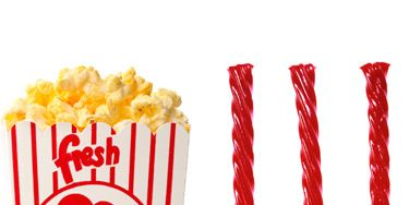 <p><strong>DITCH:</strong> Movie-theater popcorn (1,200 calories; 75 grams fat in a medium tub)<br /> <strong>DEVOUR</strong> Licorice (500 calories; 3 grams fat in a 5-ounce serving, a typical concession box size)</p> <p>Theater popcorn is made with very unhealthy oil. Buy a box of licorice to split with your guy.</p>