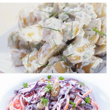 <p><strong>DITCH:</strong> Potato salad (225 calories&#x3B; 14 grams