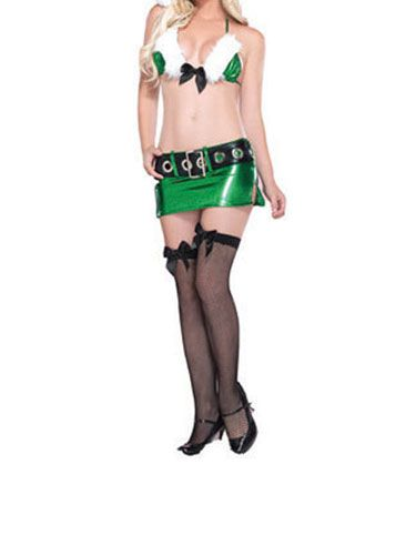"""With elves like these, no wonder Santa spends so much time in the workshop. <a href=""""http://www.costumesupercenter.com/sexy+costumes-christmas/LA83602-adult-sexy-green-enticing-elf-costume.html"""" target=""""_blank"""">costumesupercenter.com</a>"""