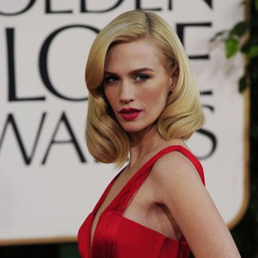 January Jones channels her inner Betty Draper for this sexy retro style.