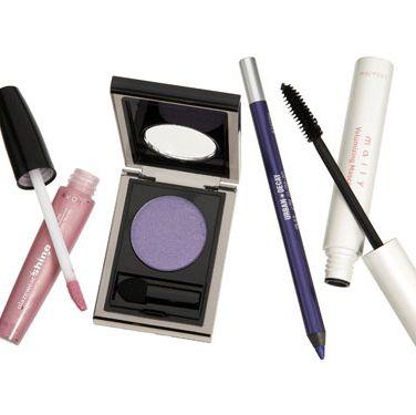 "<p><a href=""http://www.avon.com/1/1/13432-glazewear-lip-gloss.html"" target=""_blank"">Avon Glazewear Lip Gloss in Iced Pink</a>, $6</p><p><a href=""http://beauty.hsn.com/elizabeth-arden-color-intrigue-eyeshadow-lucky_pf-968329_xp.aspx?&rdr=1&cm_mmc=Shopping%20Engine-_-Froogle-_-Beauty%20Products-_-968329 "" target=""_blank""> Elizabeth Arden Color Intrigue Eye Shadow in Lucky</a>, $15</p><p><a href=""http://www.sephora.com/browse/product.jhtml?id=P133707&om_mmc=GoogleBase&_requestid=42976&ci_src=14110944&ci_sku=1139369 "" target=""_blank""> Urban Decay 24/7 Glide-On Eye Pencil in Ransom</a>, $17</p><p><a href=""http://www.qvc.com/qic/qvcapp.aspx/view.2/app.detail/params.aol_refer.false.tpl.detail.msn_refer.false.item.A185760.ref.GBA?cm_ven=GOOGLEBASE&cm_cat=Beauty&cm_pla=Makeup&cm_ite=A185760 "" target=""_blank""> Mally Volumizing Mascara</a>, $20</p>"