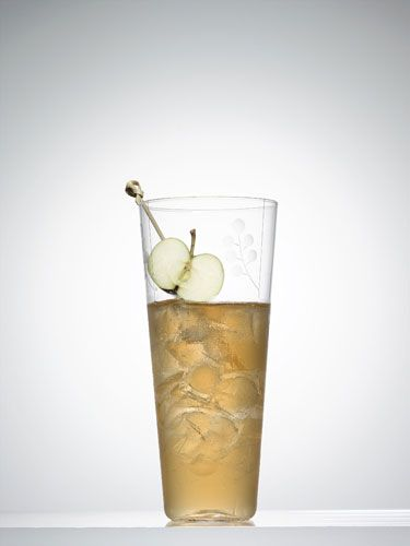 <p>4 oz. applejack<br /> 4 oz. fresh lemon juice<br />  1 oz. Cointreau or triple sec<br /> Garnish: halved crab apple</p> <p>Fill a cocktail shaker with ice. Add the ingredients, shake vigorously, and pour into a tall glass with ice. Spear the halved crab apple, and add as garnish.</p>  <p>—Laurence Kretchmer,  <i>Bar Americain</i>, New York City</p>