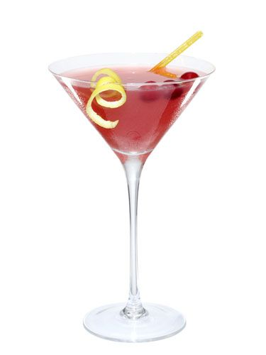 <p>2 tsp. grated ginger<br /> 8 cranberries (fresh or frozen)<br /> 4 oz. cranberry vodka<br /> Splash of lime juice<br /> Splash of cranberry juice<br /> Splash of simple syrup  (dissolve one part sugar in one part boiling water; let cool)<br /> Splash of Sprite<br /> Garnish: lemon twist</p> <p>Muddle ginger and cranberries in a shaker. Add ice, vodka, both juices, and simple syrup. Shake well. Strain into a martini glass, and add Sprite. Garnish with lemon twist.</p> <p><i>—The Fireplace</i>,  Brookline, Massachusetts</p>