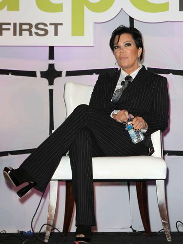 Apparently Kim's mom has been reading Steve Harvey's book, <i>Think Like a Lady, Act Like a Man.</i>