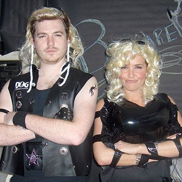 With all the Snookis and RHONJ running around, we appreciate a different kind of reality TV star costume. (Even if it does mean a man in a shoulder-length blond wig and a leather vest.)