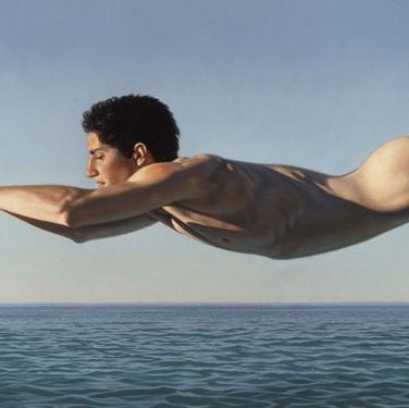 "Ligare, who is influenced by Greek sculpture, wrote that his paintings represent ""the radical pursuit of knowledge and the embracing of the full implications of humanist beauty."" Not only does this capture humanist beauty, but we can hardly believe it's a painting, not a photograph."