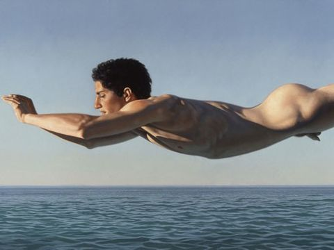 """Ligare, who is influenced by Greek sculpture, wrote that his paintings represent """"the radical pursuit of knowledge and the embracing of the full implications of humanist beauty."""" Not only does this capture humanist beauty, but we can hardly believe it's a painting, not a photograph."""