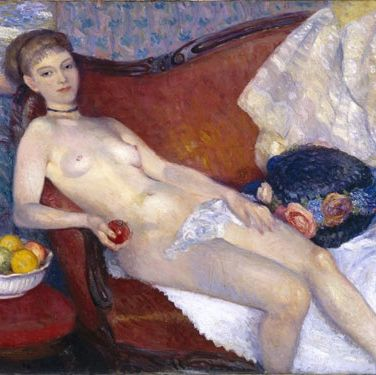 "Also known as ""Modern Eve"", this controversial piece of art is what set Glackens apart from other painters in the early 1900s. And it remains one of his most famous works."
