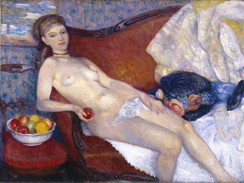 """Also known as """"Modern Eve"""", this controversial piece of art is what set Glackens apart from other painters in the early 1900s. And it remains one of his most famous works."""