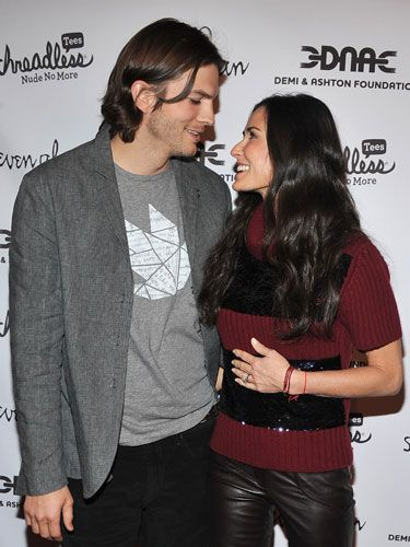 """Demi recently revealed on <i>Piers Morgan</i> that <a href=""""http://omg.yahoo.com/blogs/thefamous/ashton-kutcher-and-demi-moores-relationship-fueled-by-romantic-post-it-notes/1086"""" target=""""_blank"""">Ashton's go-to romantic move involves sticky notes</a>. """"I have Post-It notes placed in various locations, all with messages of encouragement or love...Some have been there, I don't know, seven years."""" Ashton joked that they're much cheaper than diamonds."""