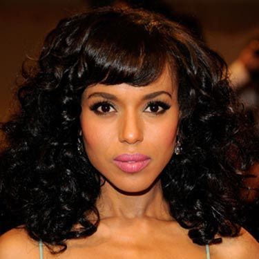 If you opt for one-color, super-dark tresses, try wearing your hair curly for a bombshell wow-factor.