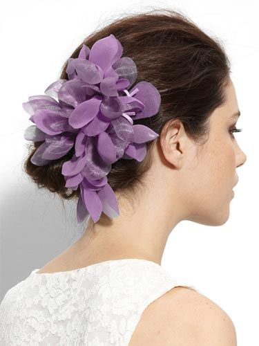 "You could make this regal-hued accessory even more royal by clipping it closer to your face.    <br /><br /> Cara Accessories 'Tropical Flower' Hair Clip, $36, <a href=""http://shop.nordstrom.com/s/cara-accessories-tropical-flower-hair-clip/3147933?origin=keywordsearch&resultback=235 <http://shop.nordstrom.com/s/cara-accessories-tropical-flower-hair-clip/3147933?origin=keywordsearch&resultback=235""target=""_blank"">nordstrom.com</a>"