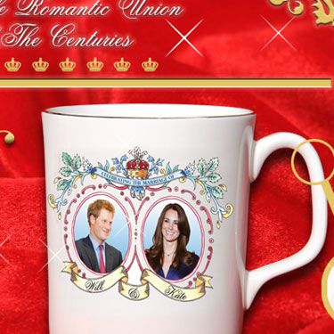 "This keepsake dish commemorates the momentous occasion Catherine marries...Prince Harry? (Some people are claiming the manufacturer purposely messed up the image to sell more.)  (£9.99 at <a href=""http://www.guandongenterprisesltd.com/"" target=""_blank"">guandongenterprisesltd.com </a> )"