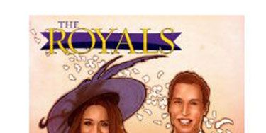 """It's a bird! It's a plane! No, it's just the royal couple, starring in their very own comic. Because not all of us have time to read the biographies, and we prefer our historical facts in the form of illustrations and text bubbles.  ($7.99 at  <a href="""" https://donkey-products.com/shop/de/katea-greetingcard"""" target=""""_blank"""">Amazon.com</a>)"""