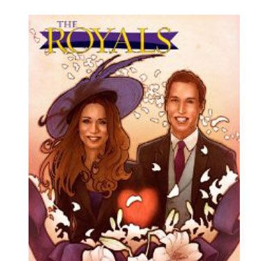 "It's a bird! It's a plane! No, it's just the royal couple, starring in their very own comic. Because not all of us have time to read the biographies, and we prefer our historical facts in the form of illustrations and text bubbles.  ($7.99 at  <a href="" https://donkey-products.com/shop/de/katea-greetingcard"" target=""_blank"">Amazon.com</a>)"