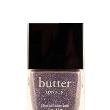 Sport this trendy gray-ish-beige shade spiked with lilac glitter in honor of Will finally putting a ring on it.