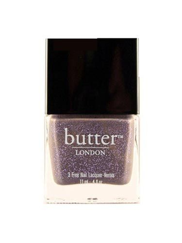 "Sport this trendy gray-ish-beige shade spiked with lilac glitter in honor of Will finally putting a ring on it. <br /><br /> Butter London No More Waity, Katie Polish, $14, <a href=""http://www.butterlondon.com/lacquers/choose/880""target=""_blank"">butterlondon.com</a>"
