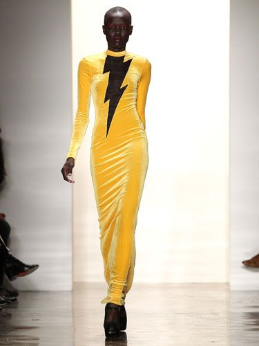 Lighting never strikes the same place twice. But apparently bad outfits <i>do</i> strike the same runway show twice. (See next slide for proof.)<p><i>Designer: Jeremy Scott</i></p>