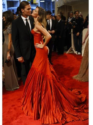 """<p>At the Met Gala, Gisele was overheard saying of Tom Brady, """"I love him no matter what. Short, bald, fat. It's all good.""""</p> <p>(All over the world short, bald, fat guys are suddenly wondering if they might have a chance with the supermodel.)</p>"""