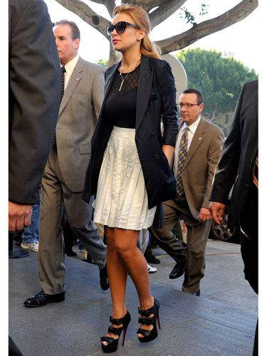 What do you wear to a probation hearing? Six-inch Louboutins, obvi.
