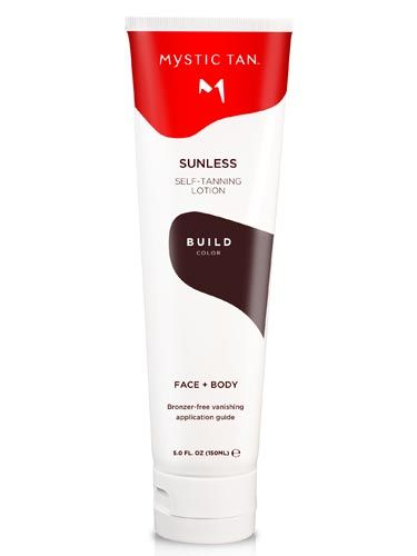 "If this is your virgin bronze of the season, you want to use a gradual self-tanner first. It will give you just a hint of color&#151;a great base for more.  <br /><br /> Mystic Tan Sunless Self-Tanning Lotion Build Color, $38, <a href=""http://mystictan.com/""target=""_blank"">mystictan.com</a>"