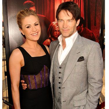 This real-life pair plays on-again-off-again couple Bill and Sookie (they were <i>off</i> at the end of last season). Anna looked fantastic in a curve-hugging black and purple Versus dress and Stephen looked dapper in a gray suit—oh, and a noticeably tanner skin tone than his character.