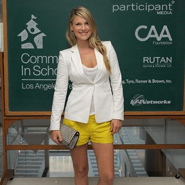 A crisp, white blazer can make just about every outfit look polished. Here, Ali Larter wears casual shorts and a 'beater, but the jacket pulls it all together. Avoid PTA-meeting style by throwing on a pair of sexy heels or wedges.