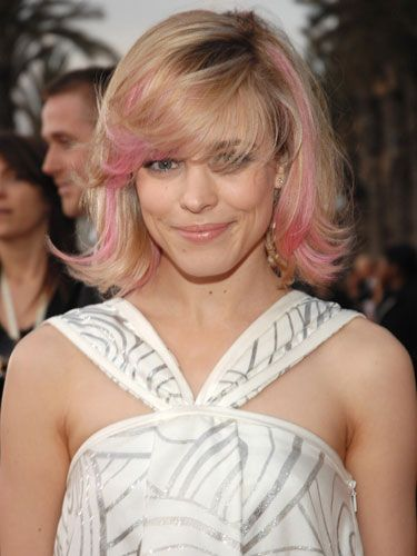 "This A-lister can do no wrong in our eyes, so when she stepped out with pink pieces of hair framing her face we totally embraced it. The not-too-bright hue also complemented <a href=""http://www.cosmopolitan.com/hairstyles-beauty/hair-care/best-blonde-hair-color""target=""_blank""> her blonde hair</a> somehow, so it wasn't as jarring as a blue or green pop of color would have been."