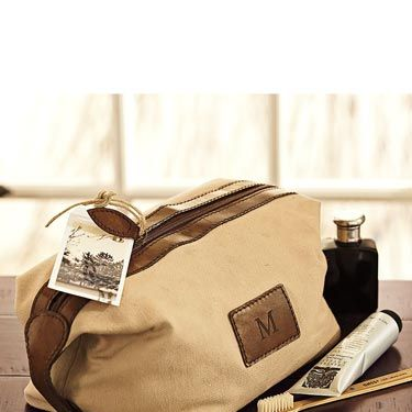 The brown leather and canvas combo will make Dad feel like he's in the Outback, even if he's just lugging this bag on a business trip to Cleveland.