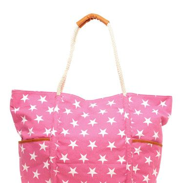 If red, white and blue isn't your thing, try pink! Not only is the print awesome, this roomy tote is perfect for lugging around beach essentials.