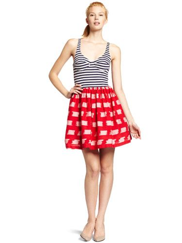"If you want to be the cutest girl at the cookout, opt for a dress like this one: We love the mixed prints, the red, white and blue color scheme isn't too overt, and the cut is flattering in a sexy way.  <br /><br /> Corey Lynn Calter Aiden Dress, $185, <a href=""http://www.amazon.com/Corey-Calter-Womens-Aiden-X-Small/dp/B004T8SCVS/ref=sr_1_1?s=apparel&qlEnable=1&ie=UTF8&qid=1309454460&sr=1-1""target=""_blank"">amazon.com</a>"