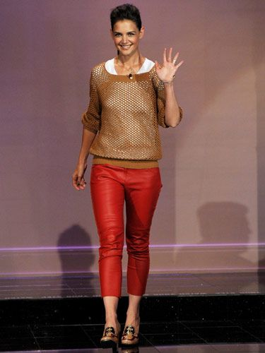 "If you buy a pair of leather pants, you're guaranteed to a) feel like a rock star and b) want to wear them every day (partly because you forked over an entire paycheck to buy them). We love Katie Holmes's red version by <a href=""http://www.net-a-porter.com/product/77173""target=""_blank"">Isabel Marant</a>, but for an affordable alternative, try waxed denim: jeans that <i>look</i> like leather. (Check out the <a href=""http://www.shopbop.com/wax-navy-legging-j-brand/vp/v=1/845524441905276.htm?folderID=2534374302064814&fm=other-shopbysize-viewall&colorId=11312""target=""_blank""> waxed legging jean</a> from J Brand.)"