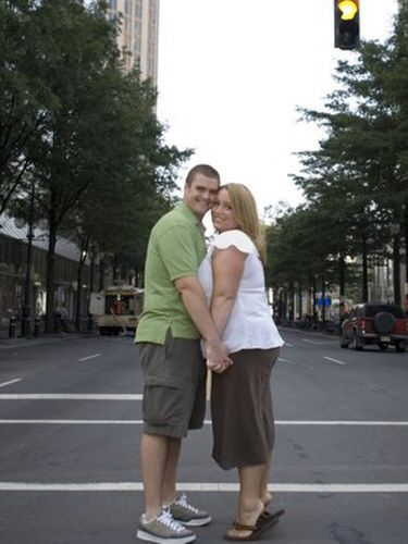 Nothing says true love like risking your lives for a photo op in the middle of a busy intersection.
