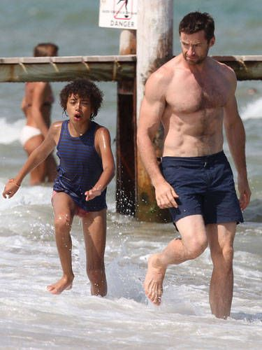 Being a dad is a full time job, but it looks like this busy father of two still finds the time to work out.