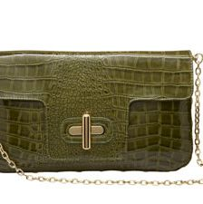 Look for a bag with texture. The hottest styles come in snakeskin, stingray, ostrich and other exotic skins—real or faux.
