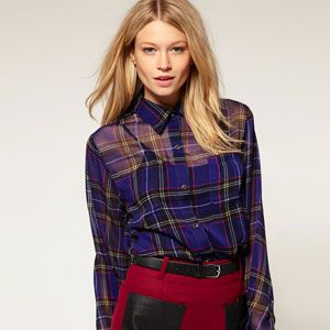 This shirt is the exact opposite of your boyfriend's plaid: It's sheer, sexy and so right for the season.