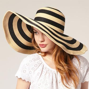 This hat is too freakin' cute—the stripes are right on-trend and the wide brim gives you extra sun protection. 