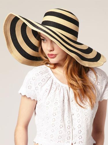 """This hat is too freakin' cute—the stripes are right on-trend and the wide brim gives you extra sun protection. <br /><br />ASOS Oversized '70s Stripe Floppy Straw Hat, $46.16, <a href=""""http://us.asos.com/ASOS-ASOS-Oversized-70s-Stripe-Floppy-Straw-Hat/w9jpz/?iid=1536134&SearchQuery=hats&sh=0&pge=0&pgesize=20&sort=-1&clr=Black&mporgp=L0Fzb3MvQXNvcy1PdmVyc2l6ZWQtNzBTLVN0cmlwZS1GbG9wcHktU3RyYXctSGF0L1Byb2Qv""""target=""""_blank"""">us.asos.com</a>"""
