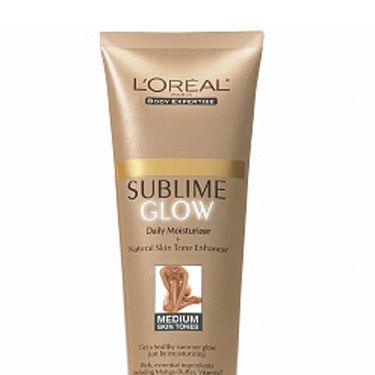 This one's made with mango butter and sweet almond oil—the scent is fantastic. It's great for evening out streaks from other more intense tanners.