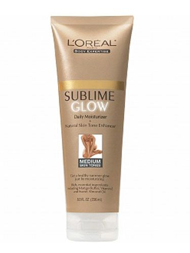 "This one's made with mango butter and sweet almond oil—the scent is fantastic. It's great for evening out streaks from other more intense tanners.  <br /><br /> L'Oréal Sunless Sublime Glow Daily Moisturizer, $10.99, <a href=""http://www.drugstore.com/loreal-sunless-sublime-glow-daily-moisturizer-medium-skin-tones/qxp150267""target=""_blank"">drugstore.com</a>"