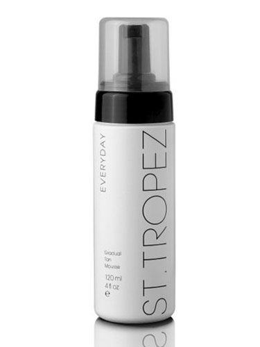 "This fluffy mousse formula is so easy to apply—and it gives you a natural-looking, golden hue every time.  <br /><br /> St. Tropez Everyday Gradual Tan Mousse, $30, <a href=""http://www.sephora.com/browse/product.jhtml?id=P261906""target=""_blank"">sephora.com</a>"