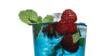 5 fresh mint leaves<br /> 1 tsp. granulated sugar<br /> 4 lime wedges, juiced<br /> 2 oz. Bacardi Razz<br /> 1/4 oz. Chambord<br /> 1/4 oz. Blue Curaçao<br /> Splash of club soda<br /> Garnish: mint, blueberries, and raspberries <br /><br /> <p>In a tall glass, crush mint with a fork. Add sugar and lime juice; stir. Add Bacardi, Chambord, and Blue Curaçao. Mix, and top with club soda. Garnish.</p> <br /> <p><i>Source: Chad Weller, Rumi, Miami</i></p>
